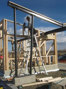 Framing and setting steel